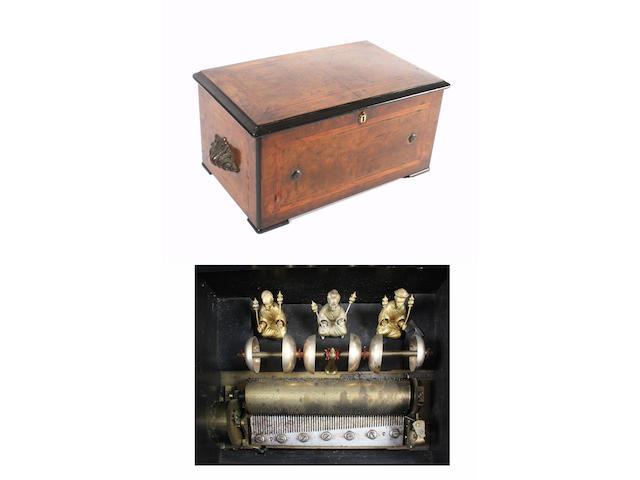 An eight air cylinder musical box by Bremond, circa 1890,