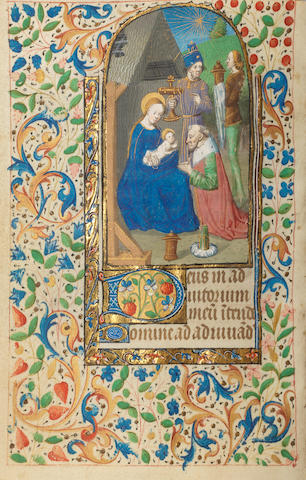 ILLUMINATED MANUSCRIPT Book of Hours, use of Rome, in Latin, illuminated manuscript on vellum
