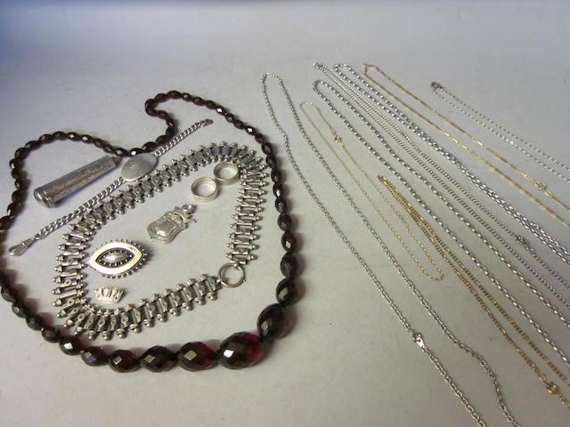 A Victorian silver collar, (Qty)