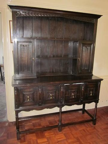 An 18th century style oak dresser