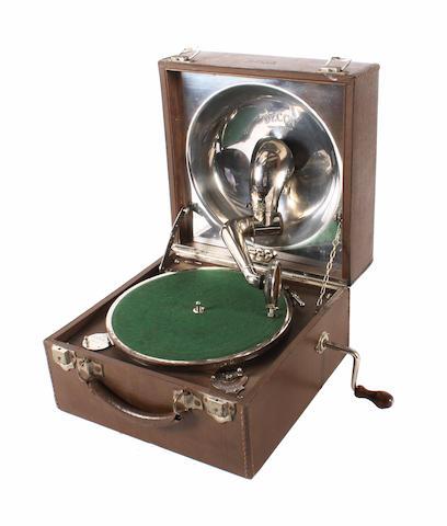 A Beltona portable gramophone,