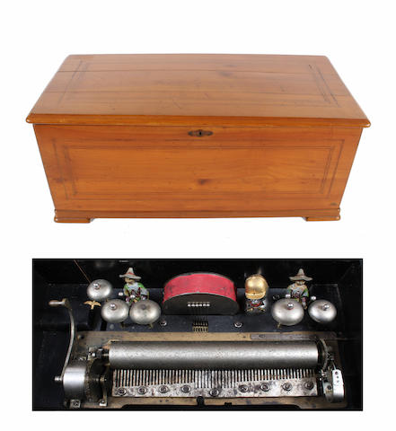 A part orchestral mandarin-striker musical box, circa 1880,