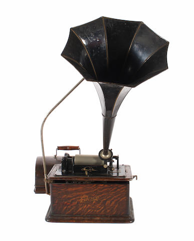An Edison Standard phonograph, model B,