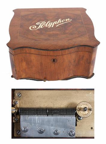 A Polyphon 11-inch disc musical box,