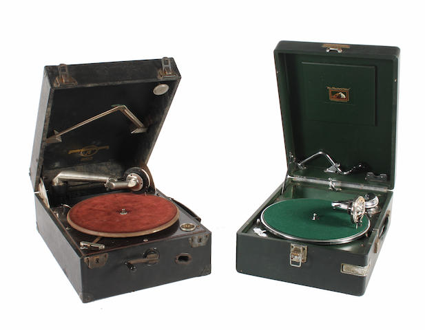 Two portable gramophones: 2