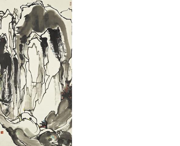 Wu Guanzhong (1919-2010) Mountain Trip