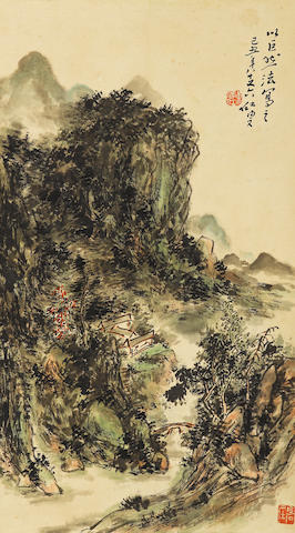 Huang Binhong (1865-1955) Landscape in the Manner of Ju Ran
