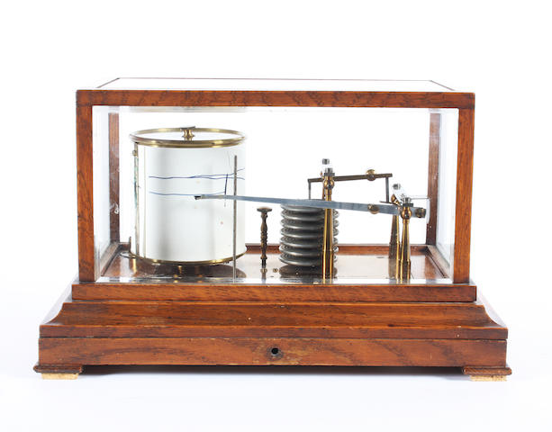 A Negretti & Zambra barograph, English, early 20th century,