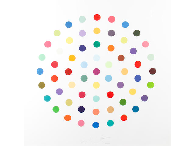 Damien Hirst (British, born 1965) Cineole Etching with aquatint in colours, 2004, on Hahnemule paper, signed in pencil, numbered 139/145 verso, 1145 x 1125mm (45 1/8 x 44 1/4in)(SH)