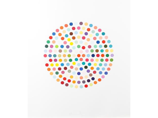 Damien Hirst (British, born 1965) Cephalothin Colour etching and aquatint, 2007, on Hahnemule paper, signed in pencil, numbered 62/75 verso, 995 x 878mm (39 1/8 x 34 1/2in)(SH)
