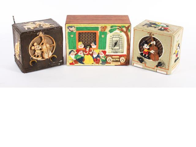 Three good reproduced 'Walt Disney' character radios, circa 1985, 3