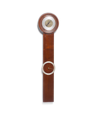 A mahogany stick barometer in the 18th century manner