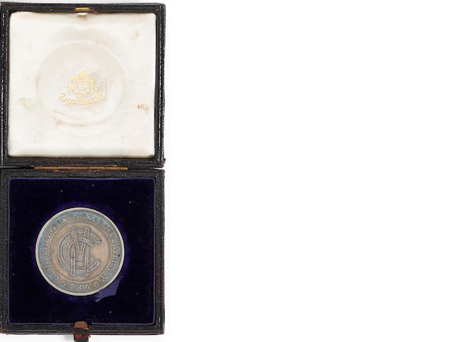1906 Gentlemen v Players medal awarded to J.Tyldesley
