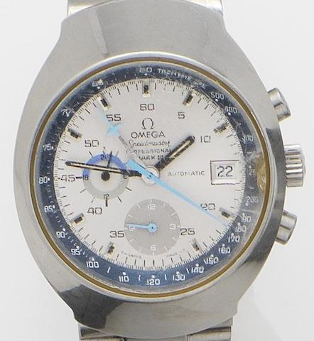 Omega. A stainless steel automatic chronograph calendar bracelet watch Speedmaster III, 1970's