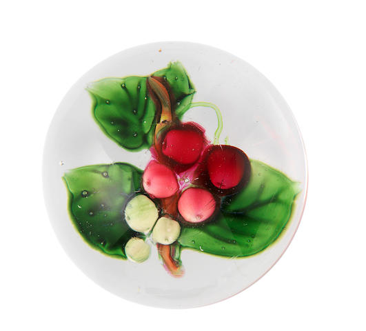 A rare Pantin cherries paperweight