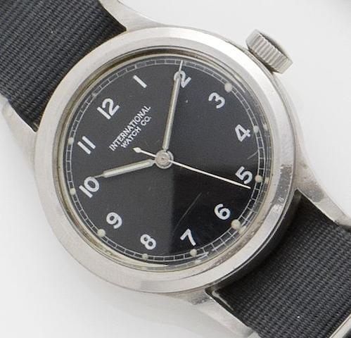 IWC. A stainless steel manual wind British military wristwatch  Case No.6B/346 1102/48, Movement No.1149764