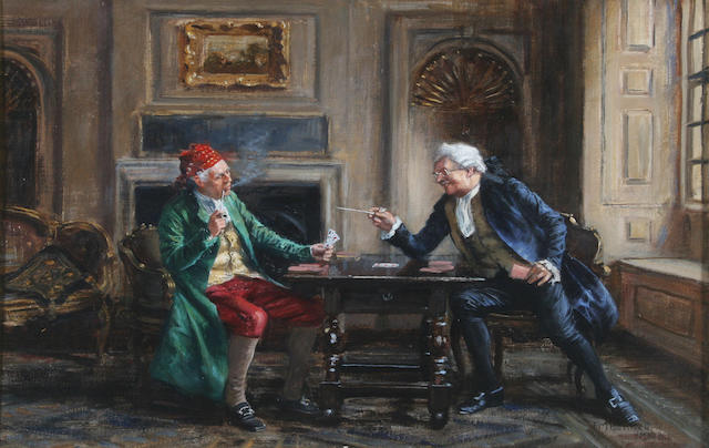 Frank Moss Bennett (British, 1874-1952) 'A Bit of Banter' 35 x 50.5cm