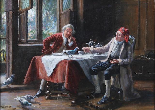 Frank Moss Bennett (British, 1874-1952) 'Uninvited Guests' 25 x 35.5cm.