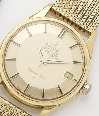 Omega. An 18ct gold automatic calendar bracelet watch 1960's