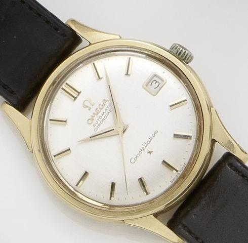 Omega. An 18ct gold automatic calendar wristwatchConstellation, 1950's