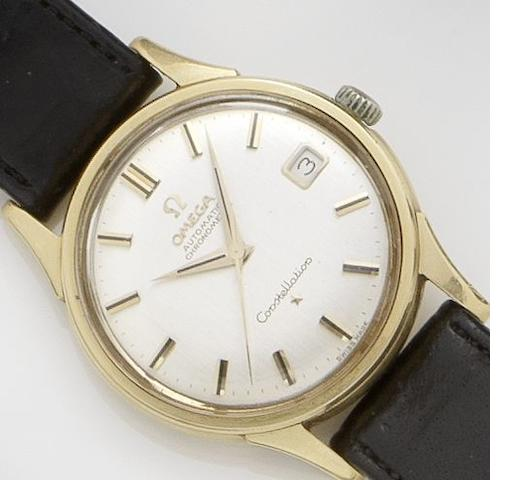 Omega. An 18ct gold automatic calendar wristwatch Constellation, 1950's