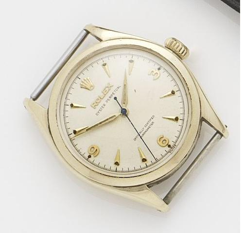 Rolex. A 9ct gold automatic wristwatchOyster, Ref.6084, Serial No.918083, Glasgow Import Hallmark 1952