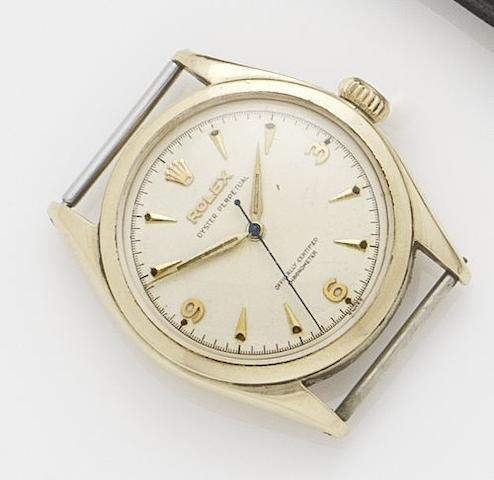 Rolex. A 9ct gold automatic wristwatchOyster, Ref.6084, Serial No.918083, Glasgow Import Hallmark 1952