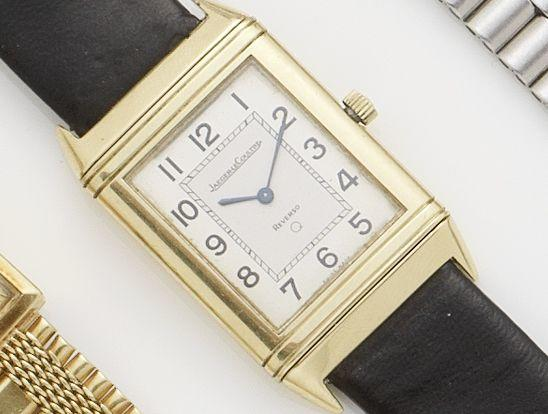 Jaeger-LeCoultre. An 18ct gold wristwatch Reverso, Recent