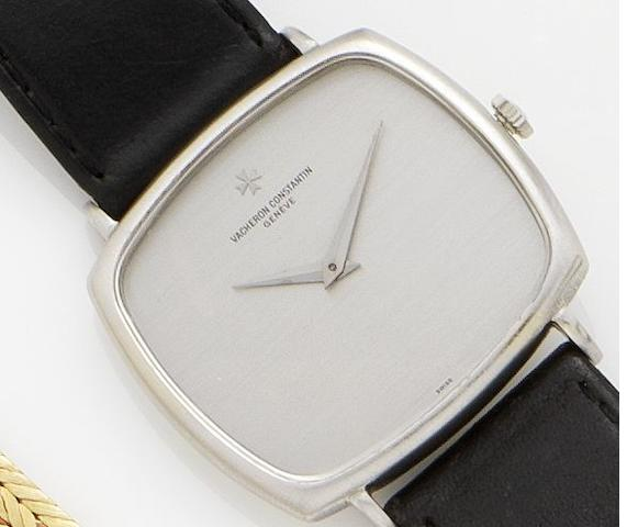 Vacheron Constantin. An 18ct white gold manual wind wristwatch Movement No.669570, Case No.500435, 1970's