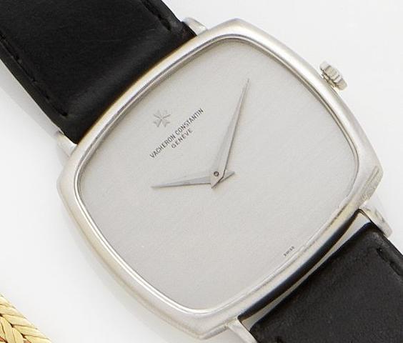 Vacheron Constantin. An 18ct white gold manual wind wristwatch Movement No.669570, Case No.500435, 1970's