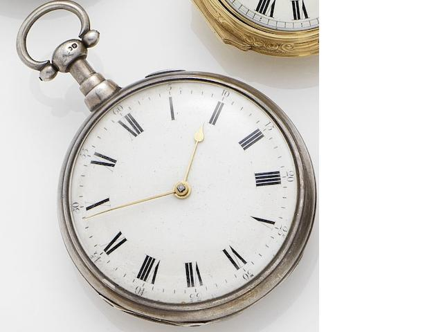 Parkinson & Frodsham. A silver key wind quarter repeating open faced pocket watch London hallmarked for 1812