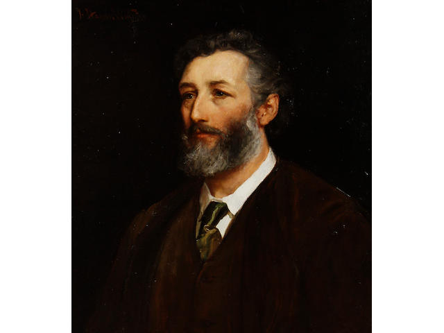 John Hanson Walker (British, 1844-1933) Portrait of Frederic, Lord Leighton