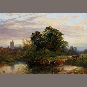 John Syer & Heywood Hardy Cattle in river