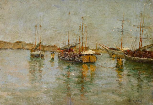 Guglielmo Ciardi (Italian, 1842-1917) Le Zattere, Venezia