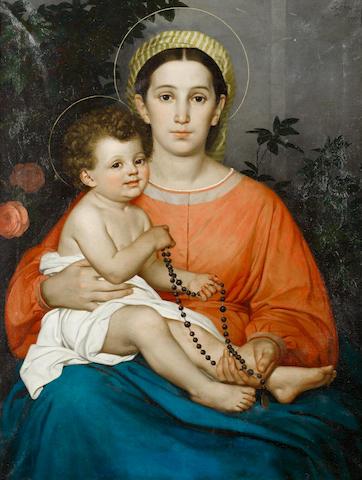 Francesco Gai (Italian, 1835-1917) Madonna and child