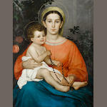 Francesco Gai (Rome 1835-1917) Madonna and child
