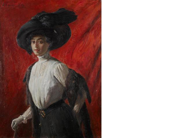 Alceste Campriani (Italian, 1848-1933) Ritratto di Adelina Campriani, figlia dell'artista