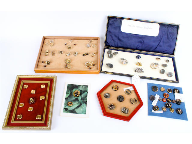 A mixed collection of ceramic and glass buttons