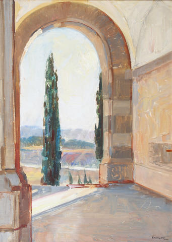 John Henry Amshewitz (British, 1882-1942) View from the Union Buildings, Pretoria 43 x 31cm.