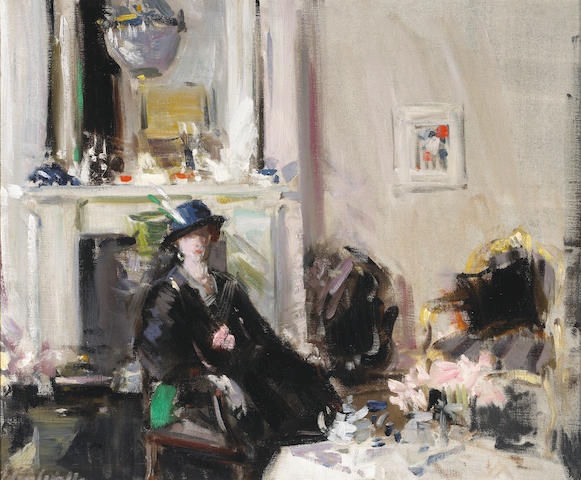 Francis Campbell Boileau Cadell, RSA RSW (British, 1883-1937) The White Room 50.8 x 61 cm. (20 x 24 in.)
