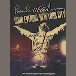 'Good Evening New York City', signed by Paul McCartney