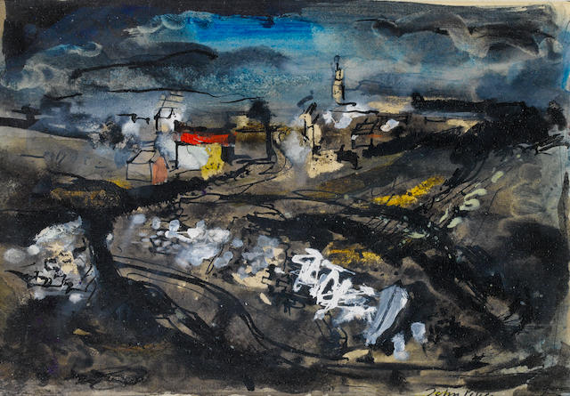 John Piper C.H. (British, 1903-1992) Portland Bill 15 x 21.5 cm. (6 x 8 1/2 in.)