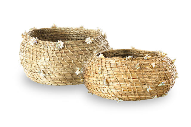 Muriel Maynard (1937-2008) Two Woven Baskets, Tasmania