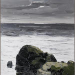 Sir Kyffin Williams R.A. (British, 1918-2006) Dark Rock - South Stack 76 x 76 cm. (30 x 30 in.)
