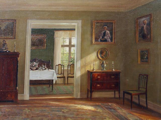 Hans Hilsoe (Danish, 1871-1942) Interior scene