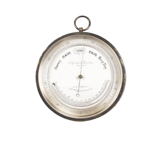 A third quarter of the 19th century aneroid barometer Negretti and Zambra, London, number 750