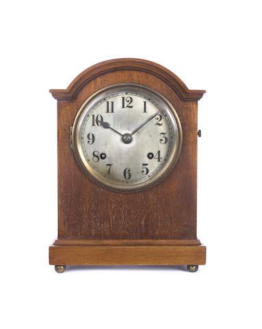A mahogany mantel clock Newhaven Clock Co