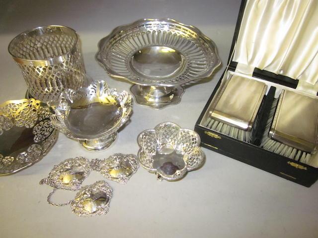 A set of eight enamel teaspoons, Birmingham 1964,  (Qty)
