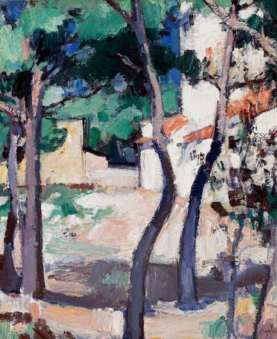Samuel John Peploe, RSA (British, 1871-1935) A Sunlit Road, Cassis 56.2 x 46 cm. (22 x 18 in.)