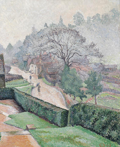 Lucien Pissarro (British, 1863-1944) Coldharbour from 'Roffy's' 65.5 x 53.3 cm. (25 3/4 x 21 in.)